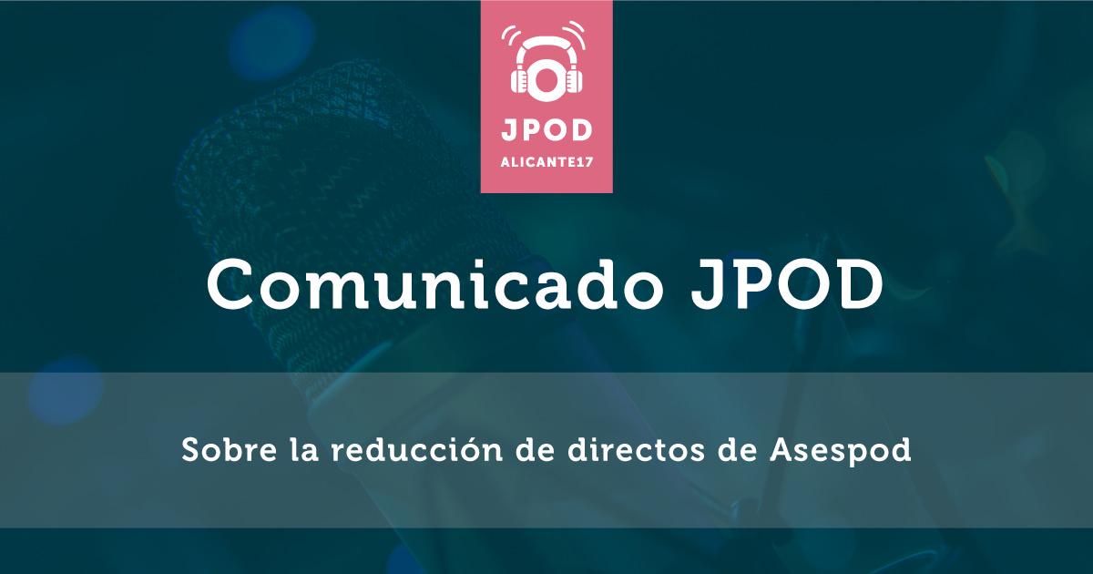 Comunicado jpod
