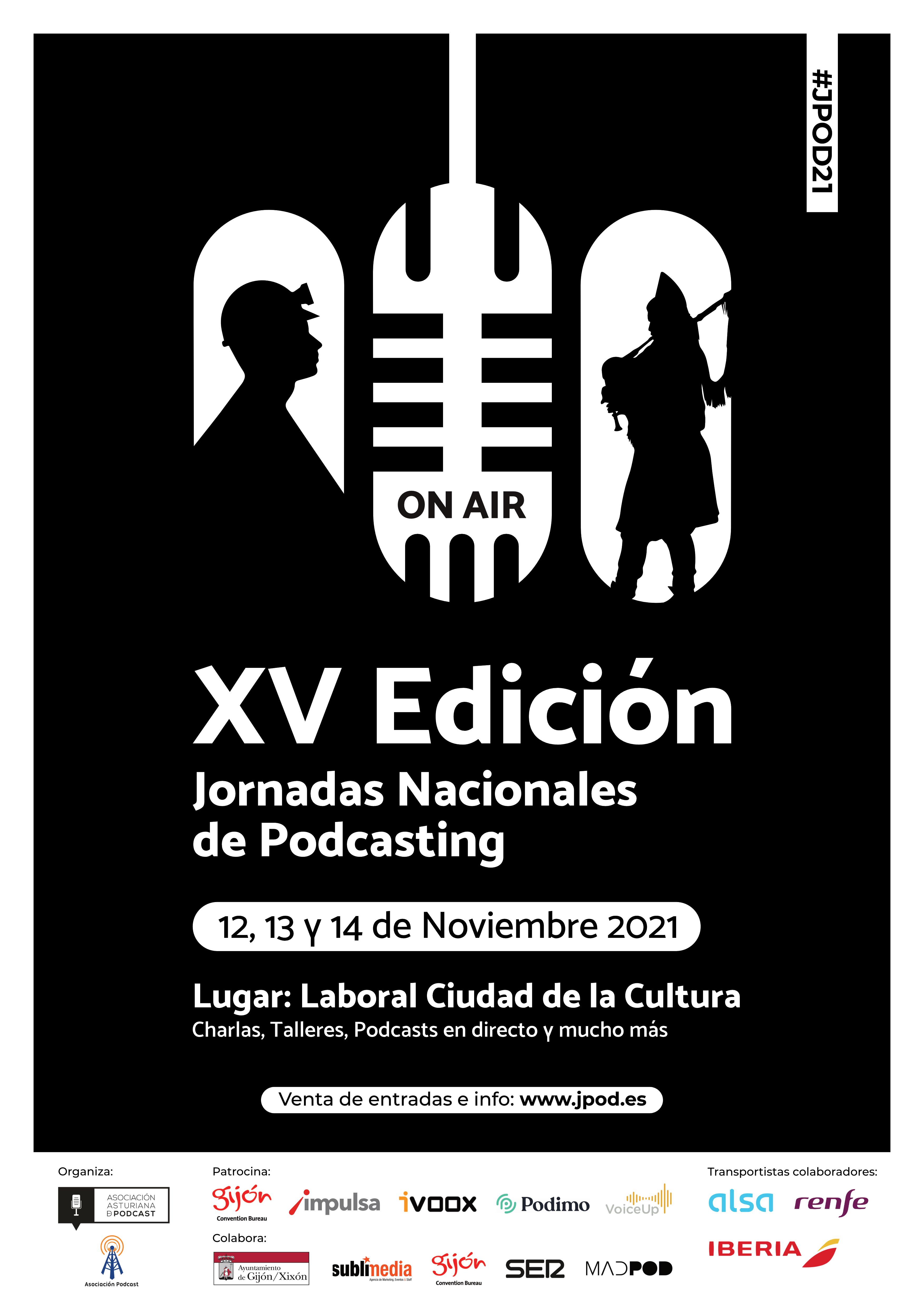Cartel Jpod21 Gijón/Xixón